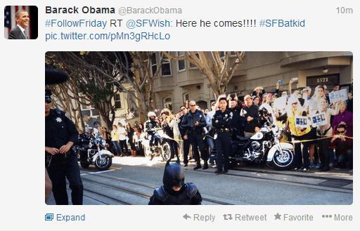 Barack Obama Tweet Batkid San Francisco